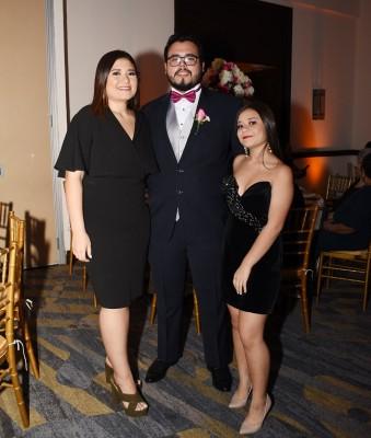 Andrea Berlíoz, Fernando Alfonso Discua y Fernanda Berlíoz