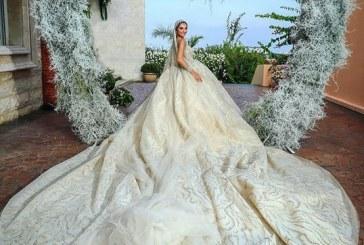 Novia brilla más que las estrellas al lucir un vestido bordado con miles de diamantes