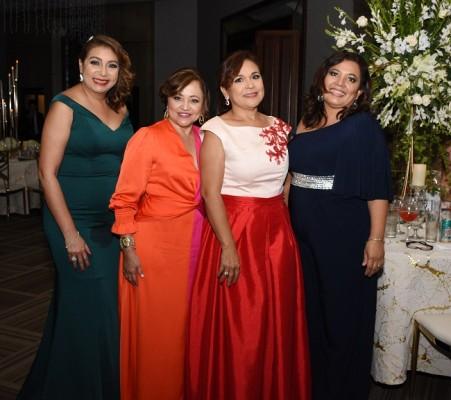 Claudia Marcía, Amelia de Flores, Reina de López y Karla de Balmaceda