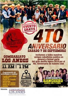 Club Hípico Valle de Sula en su 4to aniversario