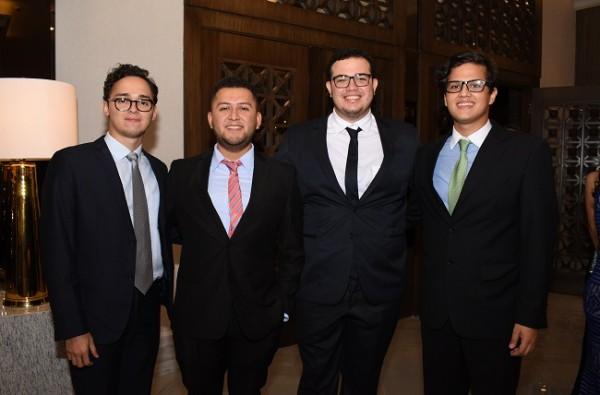 David Navarro, Mario Batres, José Zelaya y Carlos García