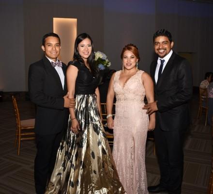 Dennis Ferrera, Cecilia Sierra, el hermano del novio, Carlos Chavarría y Andrea Chavarría