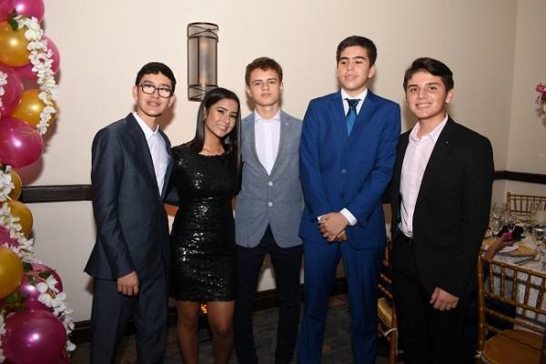 Eduardo Duarte, Elizabeth Montalván, Gabriel Fernández, Guillermo Miranda y Arturo Duque