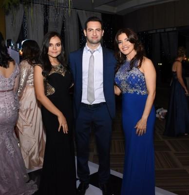 Fanny Salamé, Eduardo Handal y Carolina Araque