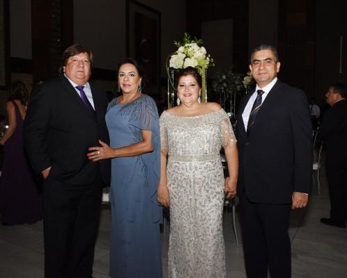 Gerardo y Diana Caraccioli con Mariela y Fidel Iyescas