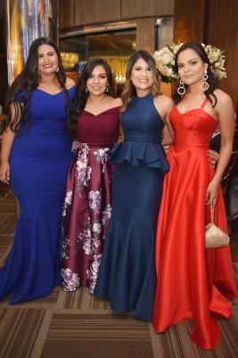 Gisselle Prieto, Milqueya Izaguirre, Maricela Escoto y Fanny Salame