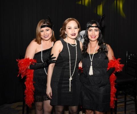Isabel Tabora, Jenina George y Jaymi Rosales