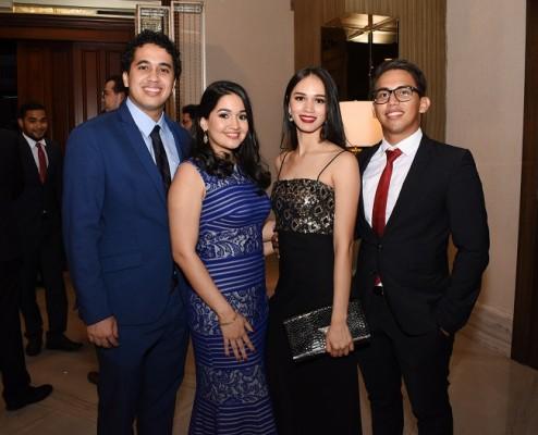 Jasser Reyes, Lisbeth Aguilar, Sandra Ramírez y Carlos Quiroz