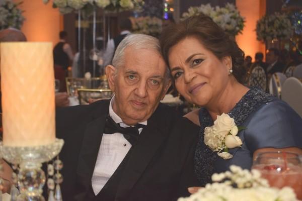 Los padres de la novia, Jesús Salamé y Lourdes Ávila de Salamé