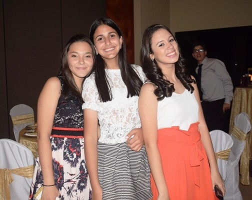 Paulina Ordoñez, Nayuah Misleh y Lourdes Herdocia.
