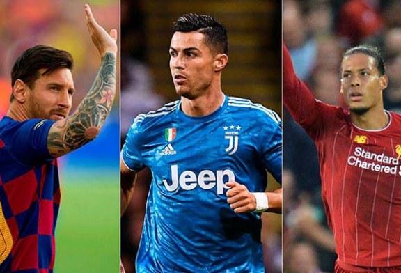"""Cristiano, Messi y Van Dijk, repiten de nuevo como finalistas al premio FIFA """"The Best"""""""