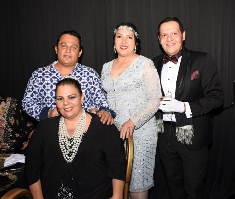 Walter Rivera, Mirna Hernández, Eugenio Laínez y Susy Kafati