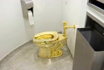 Ladrones roban un famoso inodoro de oro de 18 quilates el cual le fue ofrecido a Donald Trump