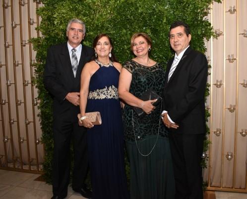 Alonso Pombo, Claudia Rey, Roxana Parrish y Carlos Lanza