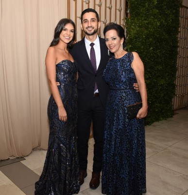 Ana Sofía Ordóñez, Amado Rodríguez y Lorette Kawas