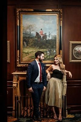 Bechir Bendeck y Lilian Pineda en una de sus estupendas imagenes de preboda