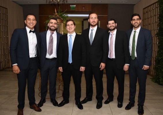 Brandon Martínez, Víctor Tellería, Michael Gardina, Gabriel Briceño, Sucre Frech y Mehdy Fassihnia