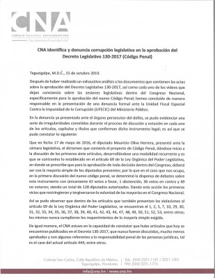 CNA corrupcion legislativa 1
