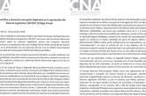 """CNA denuncia presunta trama de """"corrupción legislativa"""" en la aprobación del nuevo Código Penal"""