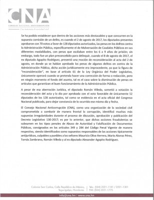 CNA corrupcion legislativa 2
