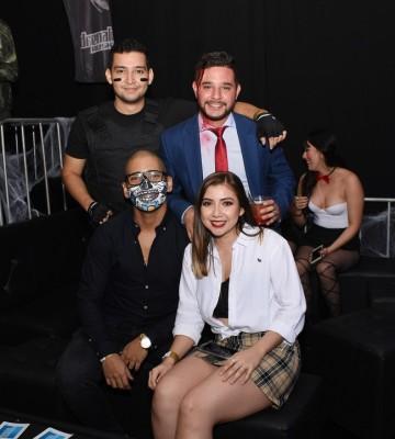 Daniel Moreno, Heber Galeano, Jorge Ramos y Ashley Palencia