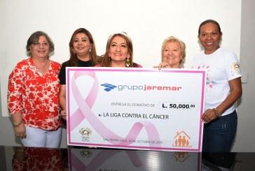 Grupo Jaremar entrega importante donativo a la Liga Contra el Cáncer