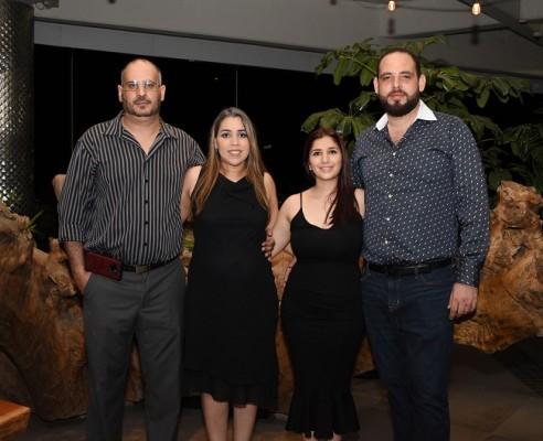 Geovanny Segebre, Verónica, Mónica y Gabriel Segebre