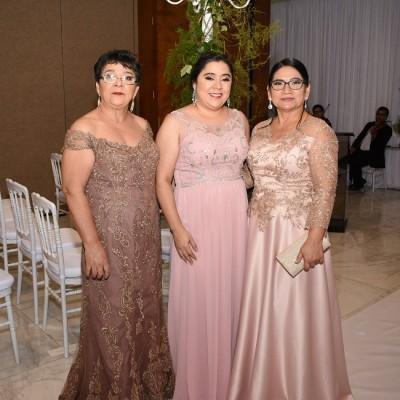 Gloria Castellanos, Claudia Antúnez y Alejandrina Orellana