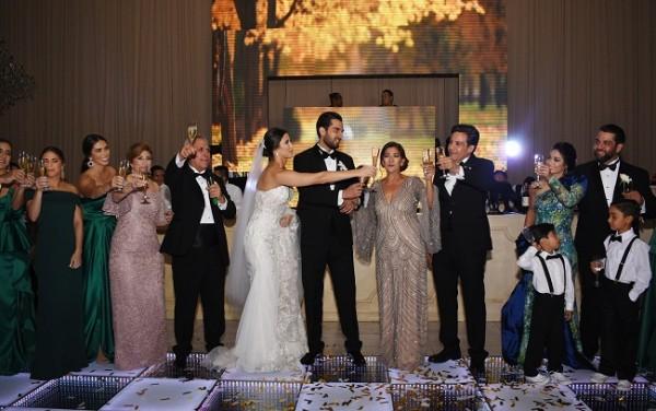 Las familias Andonie-Yuja y Nazar-Soliman brindaron por la felicidad de los novios