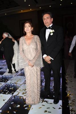 Los padres del novio, Elías Nazar y Julliette Soliman de Nazar