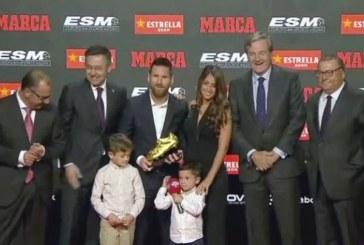 Messi recibe su sexta Bota de Oro como el mejor goleador de las ligas europeas