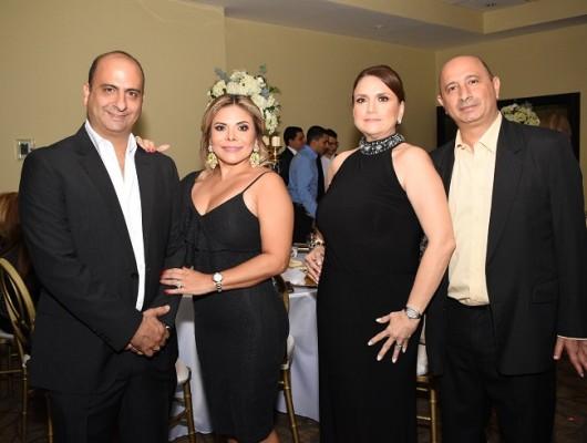 Nidal Faraj, Marlen de Faraj, Karla y Carlos Faraj