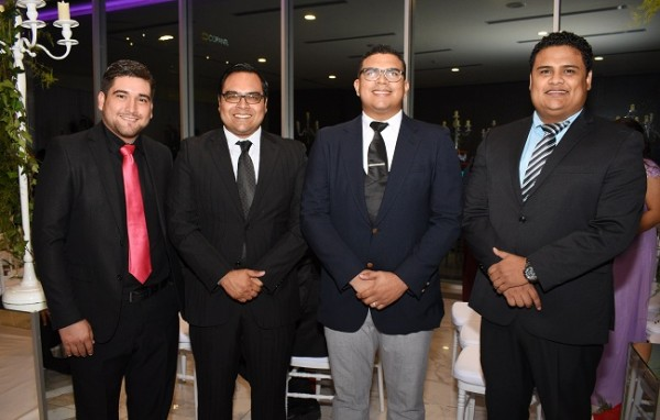 William Gale, Luis Ulloa, Javier Aparicio y Carlos Sosa