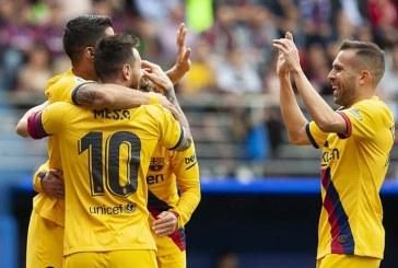 Barcelona golea 3-0 al Eibar y se coloca como líder provisional de La Liga