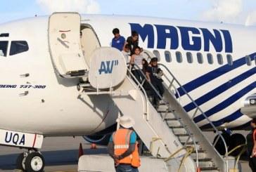 Llega vuelo con 129 hondureños retornados voluntariamente desde México
