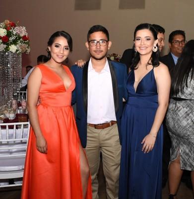 Alexandra Tejeda, Luis Mejía y Yadira Alcerro