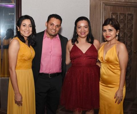 Ana Melgar, Héctor Flores, Vilma Benítez y Brenda Rodas