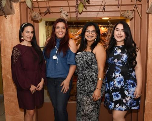 Andrea Pineda, Elisandra Valladares, Marielos Gálvez y Stephany Rivera
