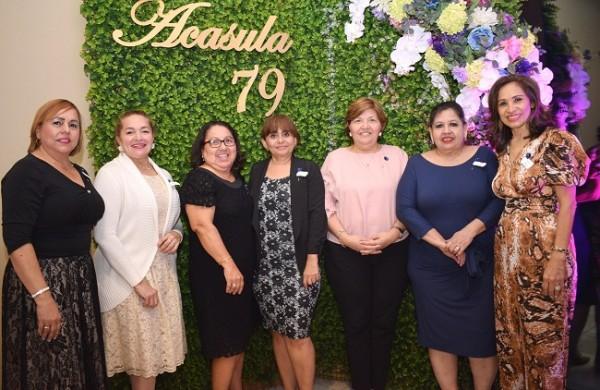 Blanca Leiva, Guadalupe Tabora, Rides Argueta, Nixa Cuello, Vilma García, Lily Castellanos y Eneida Castellanos.