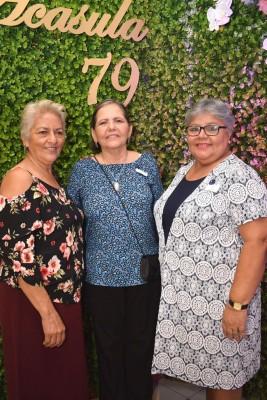 Blanca Serrano, Melba Morales y Elvia Castillo.