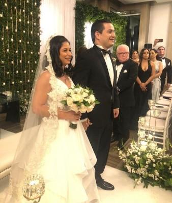 Patricia Alejandra Zúniga y Víctor Manuel Torres, Triminio, luego de ser declarados como esposos.