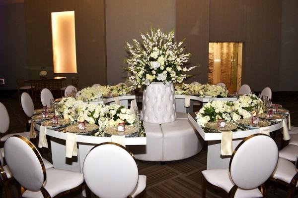 La selección del mobiliario fue todo un acierto, aportando categoría y delicadez al entorno de la recepción.