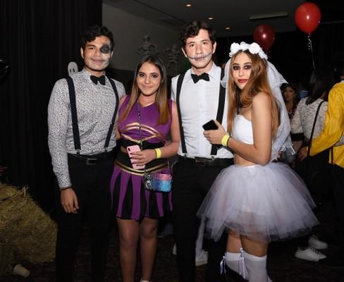 Daniel Fattaleh, Joey Másquez, Elías Fattaleh y Mónica Markreiter