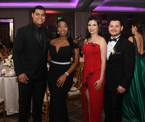 Denis Kisling, Dayana Suazo, Belinda Funes y Daniel Martínez