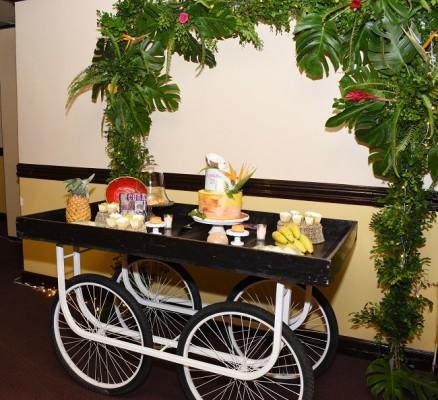 El pastel y candy bar fueron obra de Hanan´s Bakery