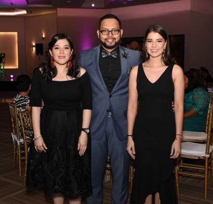 Greydi Pérez, Fredy Merlo y Evelyn García