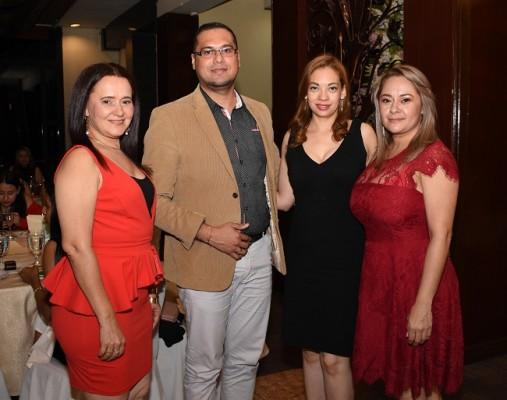 Gricelda Sagastume, Adan Euceda, Fanny Ferrufino y Ruth Erazo