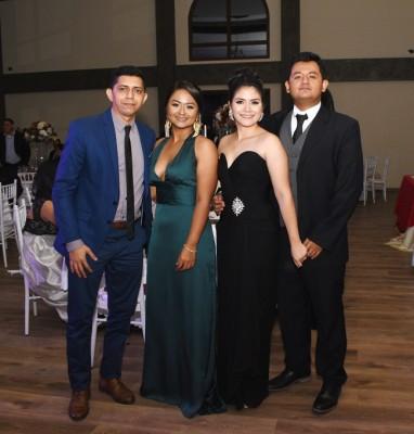 Joel Hernández, Katherine Aguilar, Andrea de Aguilar y Carlos Aguilar