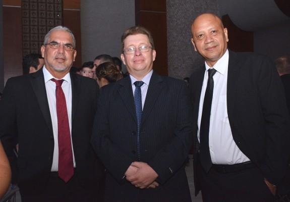 Juan Carlos Cordón, Jenssi Ortíz y Ulises Turcios.