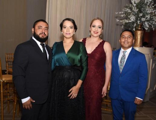 Julio Solórzano, María Furst, Silvia Romero y Jorge Pineda
